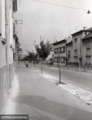 Az Alsólövér utca egy részlete