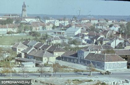 Épül a Kőfaragó téri lakótelep - Kilátás a Kuruc-dombra