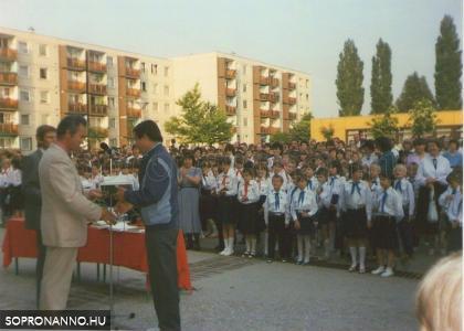 Tanévzáró 1988-ban