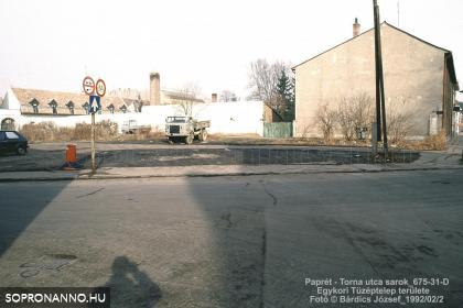 Foghíjtelek a Torna utcai Tüzép telep helyén