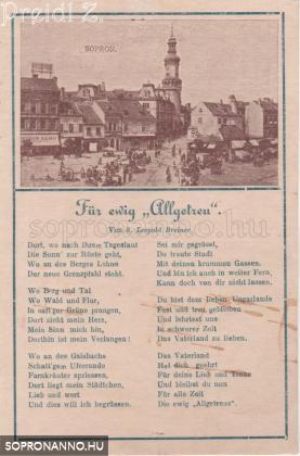 "Für ewig ""Allgetrau"" - Leopold Breiner daloskönyvéből"