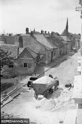 Fűrészporszállítás 1958-ban