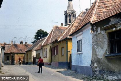 Gazda utcai részlet az 1960-as évekből