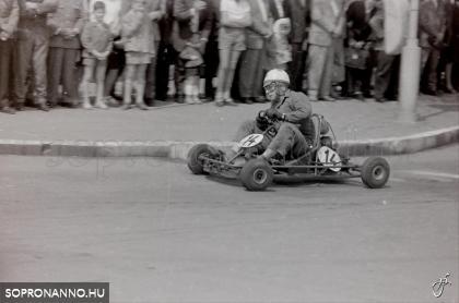 Gokart verseny a Várkerületen az 1960-as években