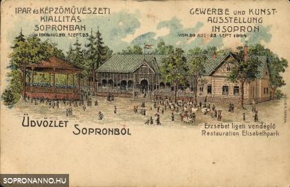 Képeslap az Iparkiállításról
