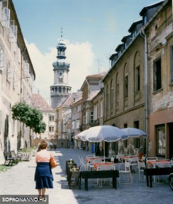 A Kolostor utca az 1980-as években