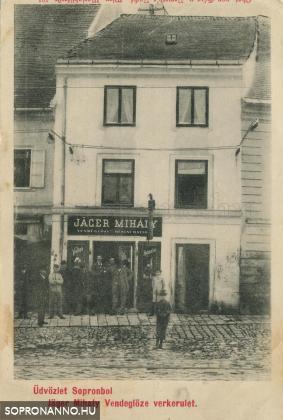 Jäger Mihály vendéglője a Várkerületen