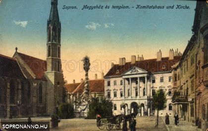 A Fő tér korabeli képeslapon