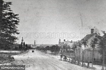 A Kossuth Lajos utca 1870 körül