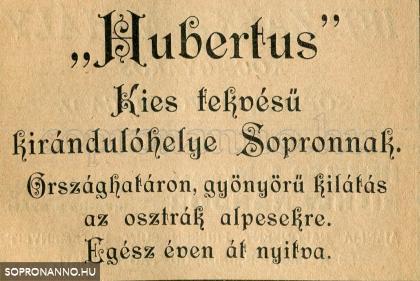 A Hubertusz reklámja