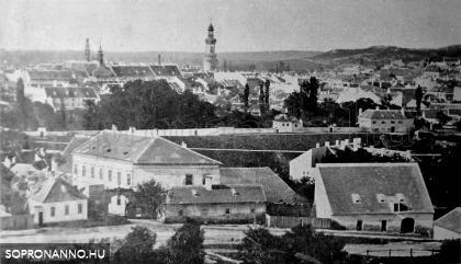 Látkép 1860 körül