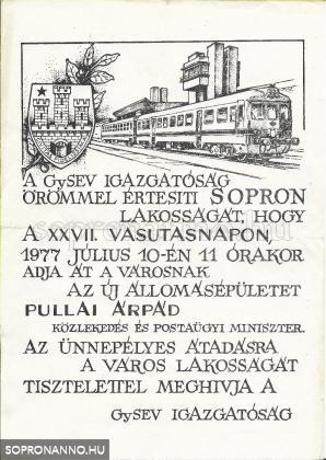 Meghívó az új állomásépület átadására