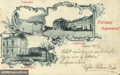 Mozaiklap az 1800-as évek végéről