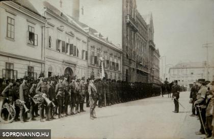 Ostenburg zászlóalja Sopronban