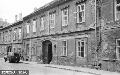 A Szentlélek utca 3-as számú ház 1968-ban