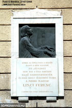 Liszt Ferenc emléktáblája