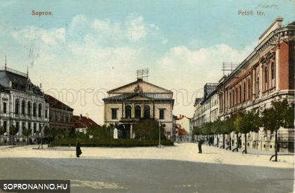 Petőfi téri részlet 1907 körül