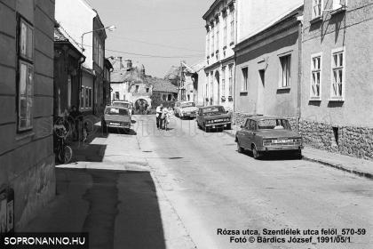 A Rózsa utca 1991-ben