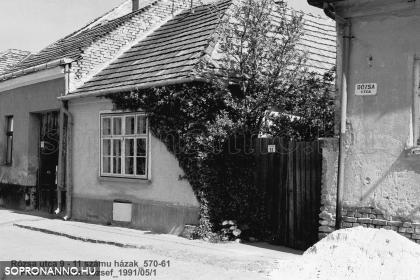 A Rózsa utca 11-es számú ház 1991-ben