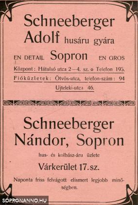 A cég hirdetése 1922-ből