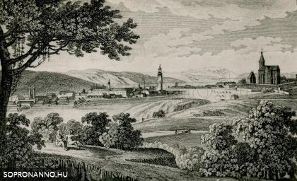 Sopron látképe 1809-ből