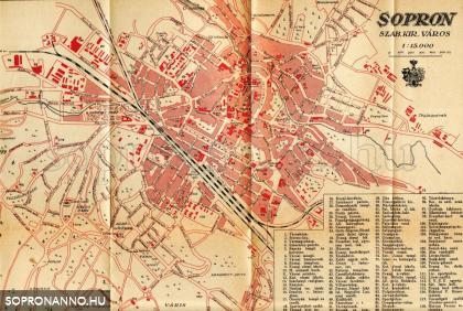 Sopron térképe 1935