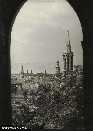 Soproni látkép 1961-ből