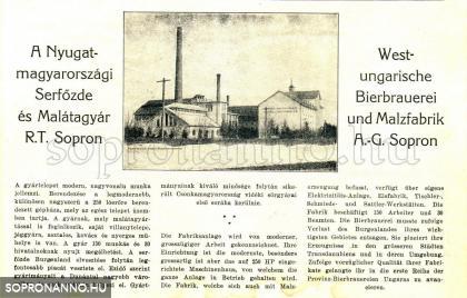 Sörgyár - 1922.