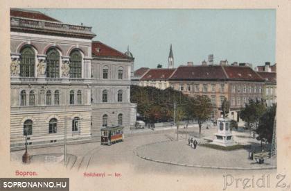 A Széchenyi tér az 1900-as évek elején