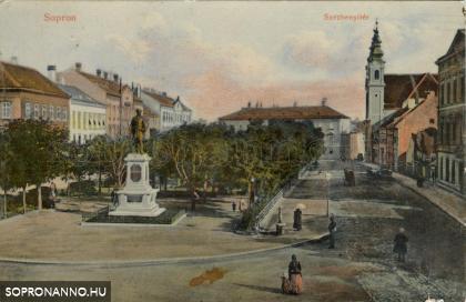 Széchenyi téri részlet 1900 körül