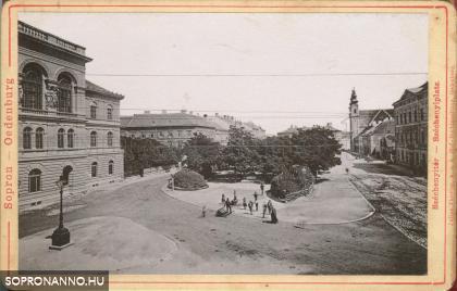 Széchenyi téri részlet az 1890-es évekből