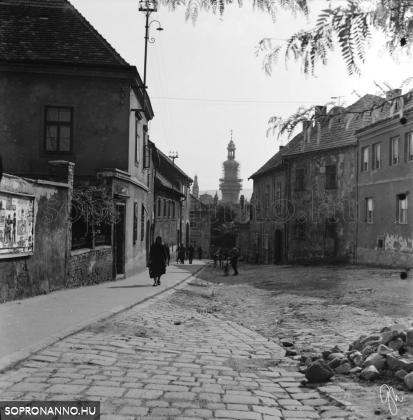 Szent Mihály utcai részlet 1969-ből
