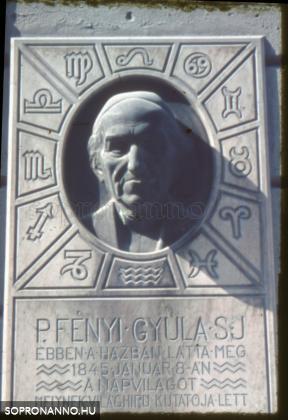Fényi Gyula emléktáblája