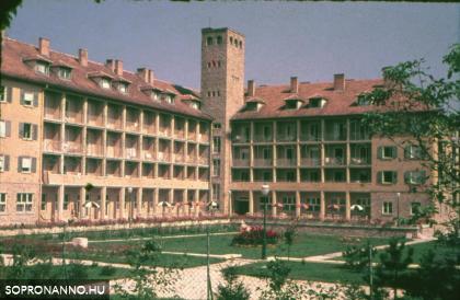 A szanatórium épülete