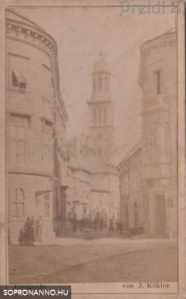 Templom utcai részlet az 1800-as évek végéről