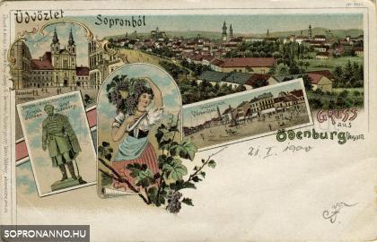 Üdvözlet Sopronból az 1800-as évek végéről