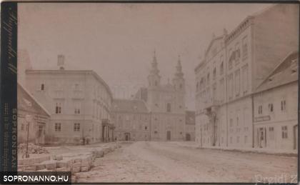 Várkerületi részlet az 1800-as évek végéről
