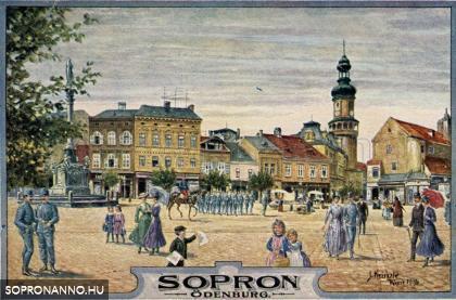 Várkerületi részlet Josef Kränzle festményén