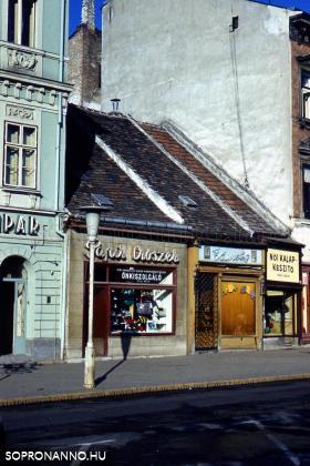 Várkerületi üzletek az 1960-as években