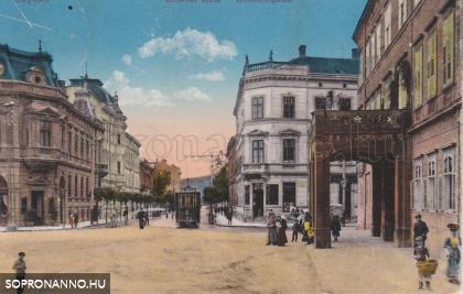 Villamos az Erzsébet utcában