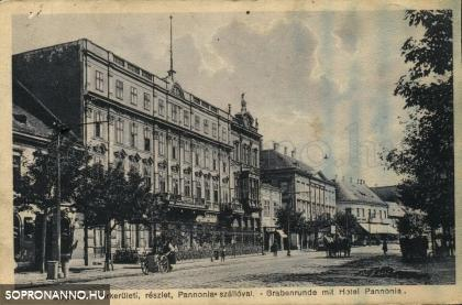 A Pannónia Szálló korabeli képeslapon