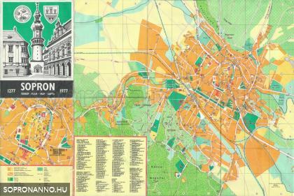 Sopron térképe 1977