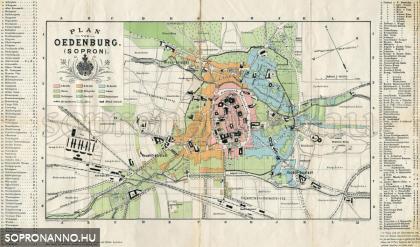 Sopron térképe 1885