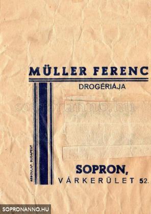 Müller drogéria zacskó előoldala