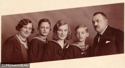 Pum Géza és családja