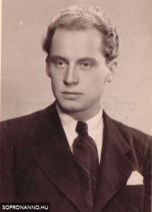 Pum János fiatalkori portréja