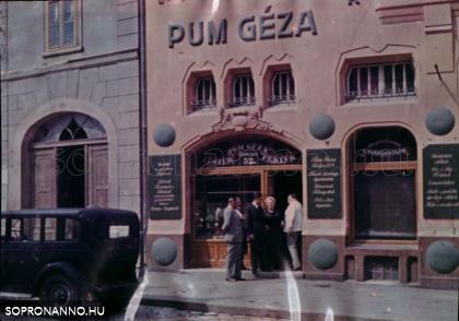 Az Újteleki utcai üzlet bejárata színesben