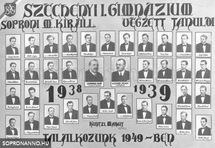 Tablókép 1938/39.