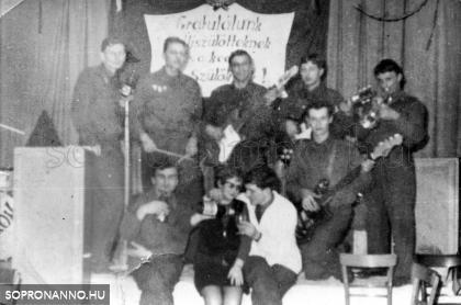 BM Sopron Határőrség zenekara 1968
