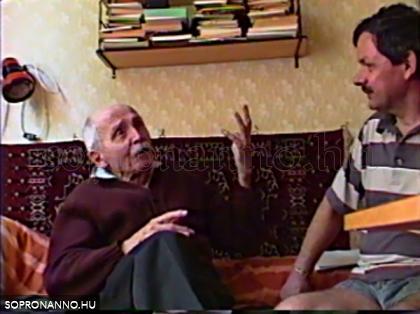 Dér Zoltán tanár úr Besskó Csabával 1989-ben